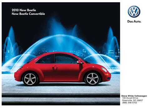 steve white volkswagen greenville 2010 volkswagen new beetle brochure greenville columbia sc