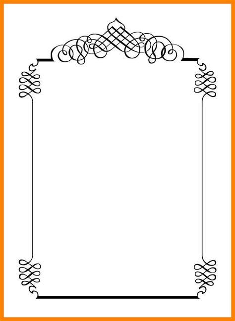 Invitation Letter Border 3 Simple Invitation Border Design Day Care Receipts