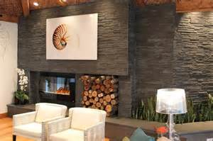 stunning living rooms with stacked stone fireplace rilane