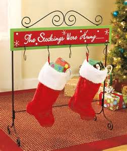 Christmas Stocking Floor Stand Christmas Stocking Floor Stand Metal Wood Holder Table