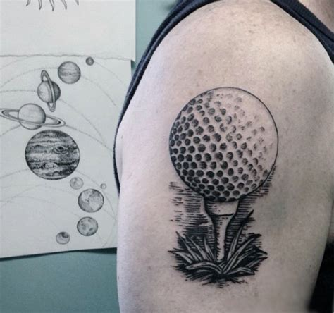 golf ball tattoo 40 golf tattoos for manly golfer designs