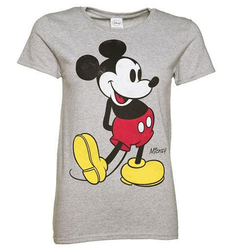 Mickey Mouse Tshirt s grey marl disney classic mickey mouse t shirt