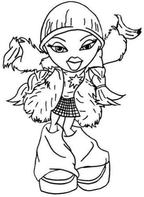 free coloring pages of bratz rock star