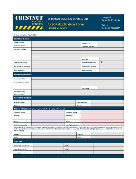 Credit Application Terms And Conditions Template 40 Free Credit Application Form Templates Sles