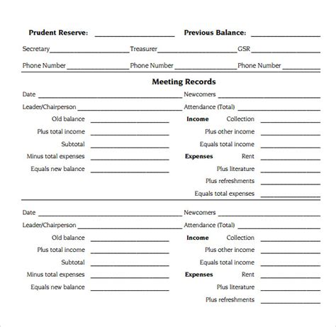 treasurer report template treasurer report template 28 images treasurer report