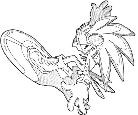 Sonic Generations Jet The Hawk Speed Surfing Sonic Riders Coloring Pages