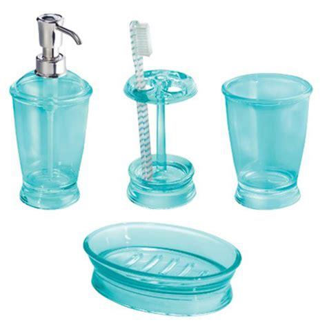 aruba blue franklin 4 piece bath accessories set