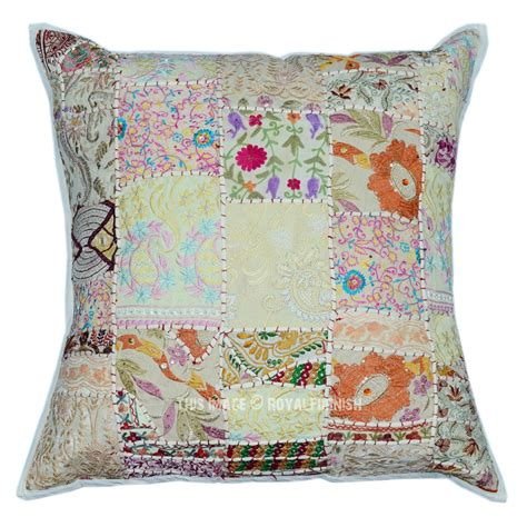 Bohemian Throw Pillows by Oversized 60 Quot X60 Quot White Patchwork Indian Bohemian