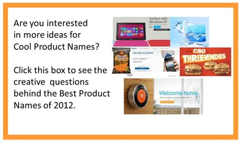 creative names creating cool product names for a new product idea 8 creative thinking questions