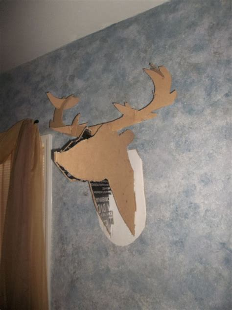 cardboard deer template 1000 ideas about cardboard deer heads on diy