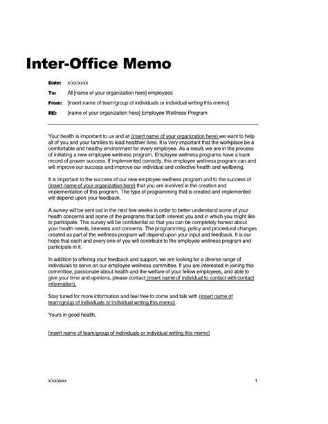 Memorandum Template 10 best images of sle office memo office memorandum