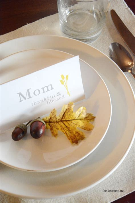 thanksgiving place cards  idea room