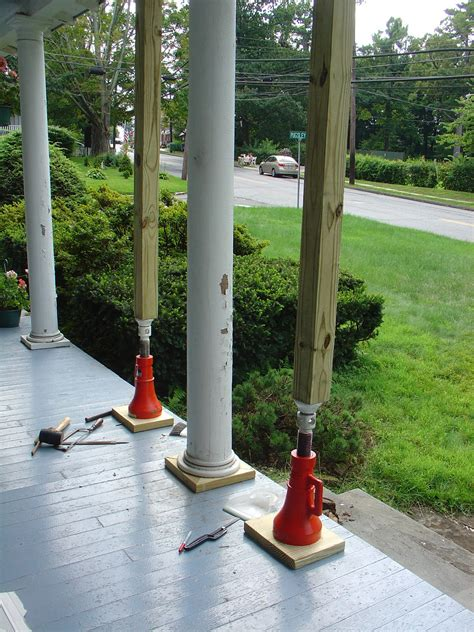 How To Replace Porch Columns at pugsley it s raining time to replace porch column bases