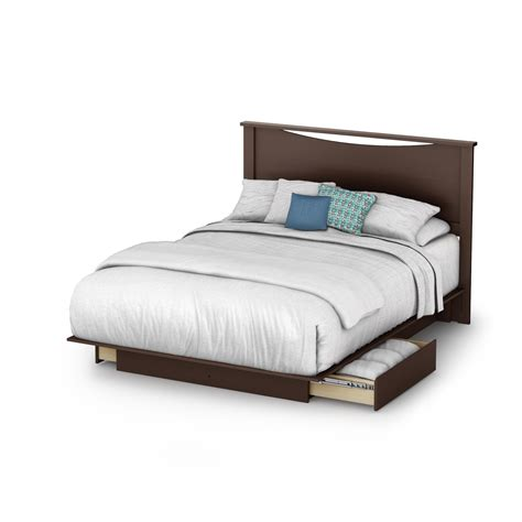 w bed south shore back bay queen platform bed w drawers headboard by oj commerce