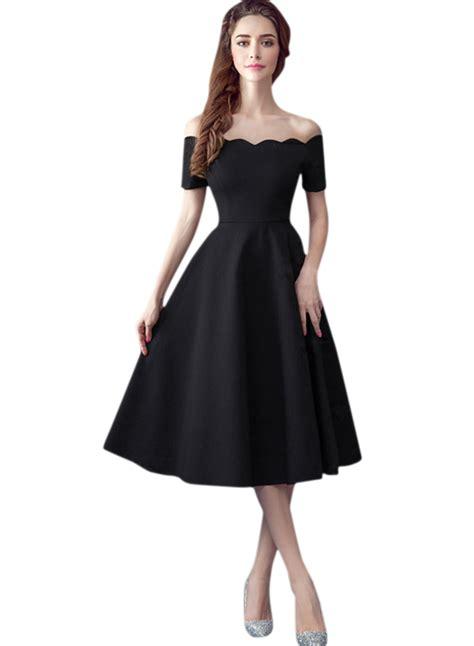 Dress Line S vintage scalloped shoulder a line dress oasap