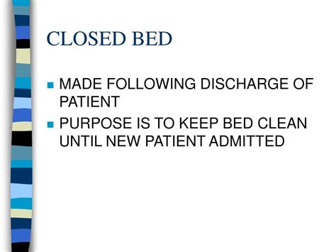 closed bed ppt bedmaking powerpoint presentation id 211862