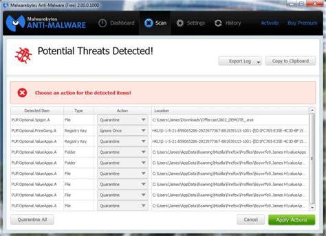 Mba M by Does Malwarebytes 2 0 Identify Remove Pups Toolbars