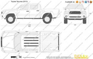 Toyota Tacoma Width The Blueprints Vector Drawing Toyota Tacoma