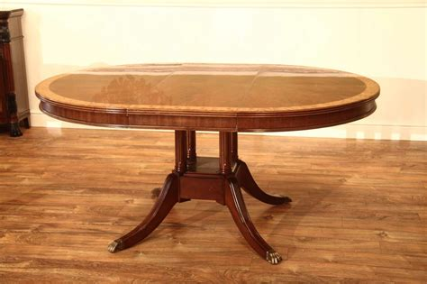 Small 48 Inch Round Mahogany Pedestal Dining Table With Leaf Small Mahogany Dining Table