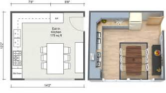 Eat In Kitchen Floor Plans by Kitchen Ideas Roomsketcher