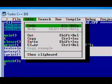 turbo c tutorial youtube turbo c tutorial part 3 textcolor youtube