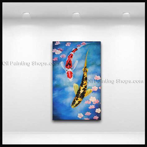 feng shui painting elegant feng shui zen art contemporary painting koi fish