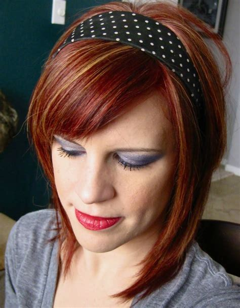 hairstyles with orange highlights auburn hair with caramel highlights band hairstyle 20