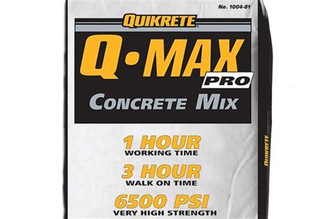 Mixer Qmax heavy construction quikrete concrete repair solutions on