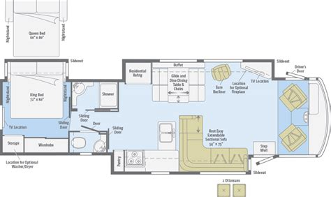 winnebago class c motorhomes floor plans adventurer floorplans winnebago rvs