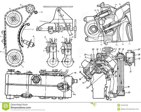technical drawing free technical drawing stock illustration illustration of gear