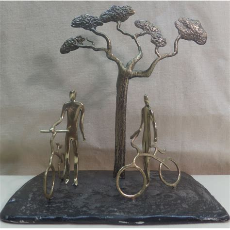 sculptures for home decor small sculpture bronze figures with bicycle for