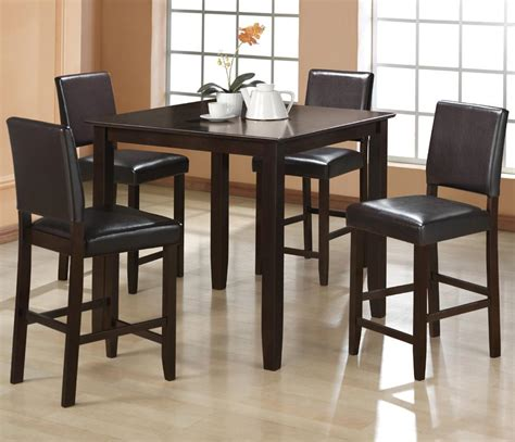 crown 4 counter height table set crown derick 2708set 5 counter height table set
