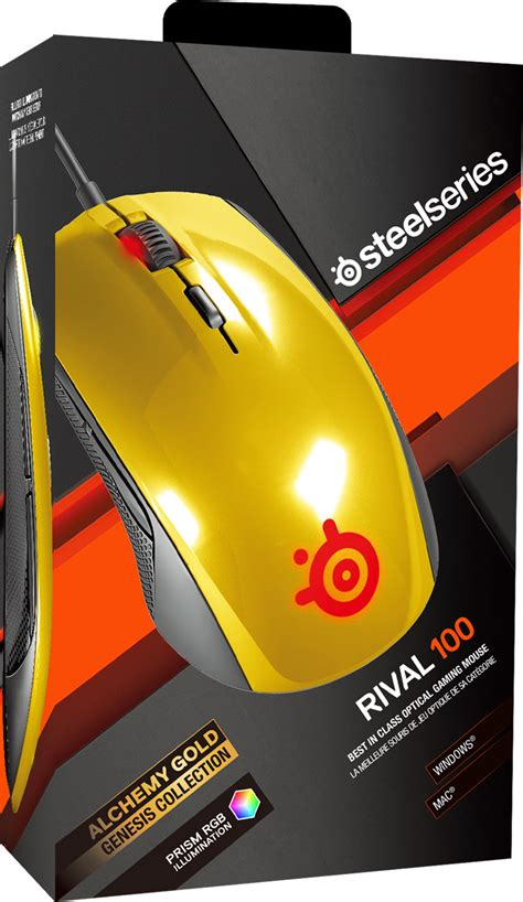 Steelseries Rival 100 Alchemy Gold steelseries rival 100 alchemy gold prisv 228 rd gamingmus med