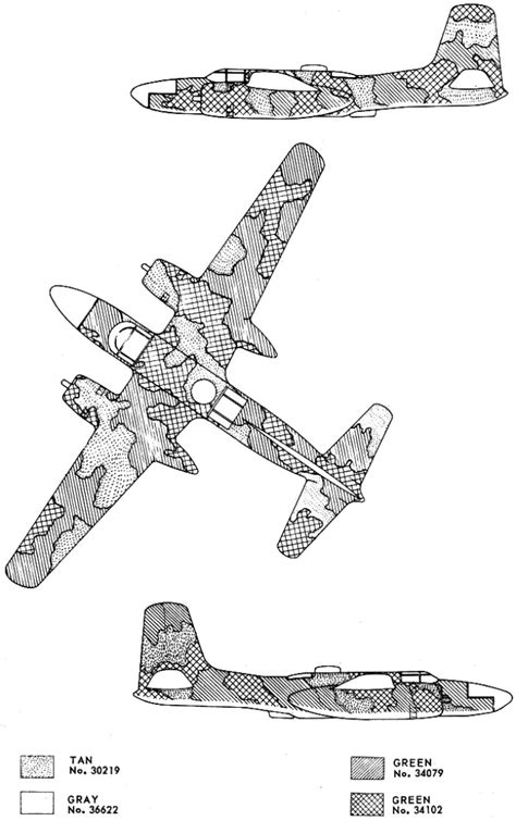 douglas a 26k invader southeast asia camouflage color profile and paint guide