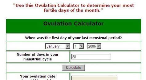 Ovulation Calendar Pregnancy Calculator Ovulation Calculator Windows Ovulation Calendar