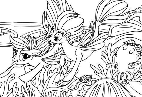 pony  coloring page undersea ponies