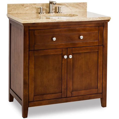 Shaker Bathroom Vanity Jeffrey Chatham Shaker Bathroom Vanity With Marble Top Porcelain Sink Chocolate 36