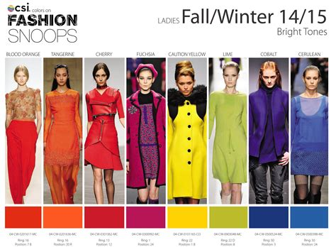 trend colors fall winter 2014 2015 runway color trends nidhi saxena s