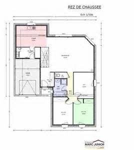 plan de de plain pied avec 3 chambres