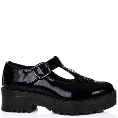 buy antika heeled cleated sole platform loafer shoes black