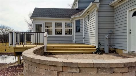 patio number timber tech deck and belgard patio by bridgeview il