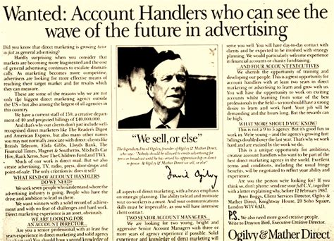 ogilvy on advertising in the digital age books david ogilvy s prophetic quot secret weapon quot of selling