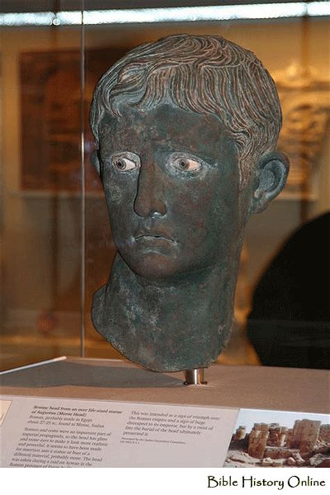 census of augustus caesar bible archaeology and roman bust of augustus caesar biblical archaeology in rome