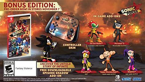 sonic forces bonus edition nintendo switch import it all