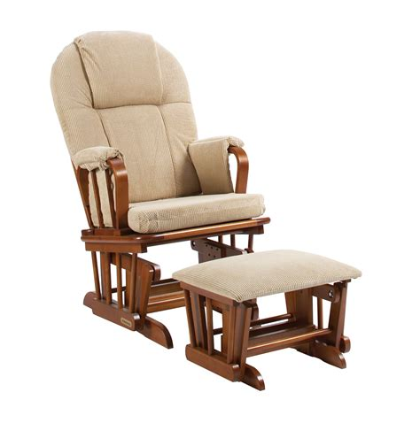 outdoor glider rocker with ottoman shermag glider rocker ottoman combo chestnut with galaxy