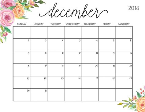printable calendar for december 2018 december 2018 calendar calendar 2018