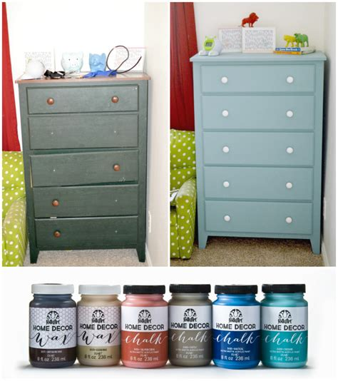 folk art home decor chalk refinishing a kids dresser using folkart 174 home decor