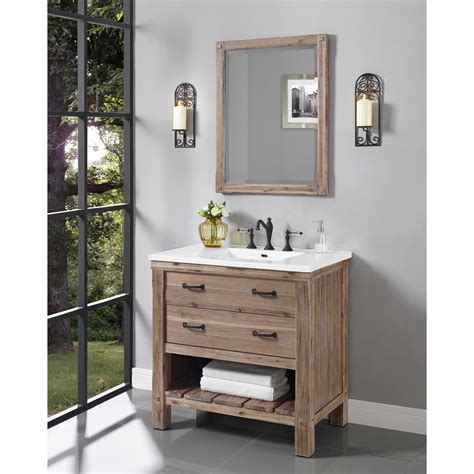 bathroom vanity open shelves fairmont designs napa 36 quot open shelf vanity for integrated sinktop sonoma sand free shipping