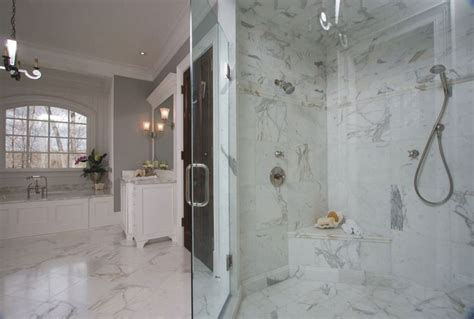 white marble bathrooms project showcase