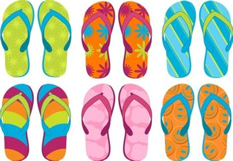 summer house shoes summer sandals 02 vector files clipart with summer slippers clipart summer slippers